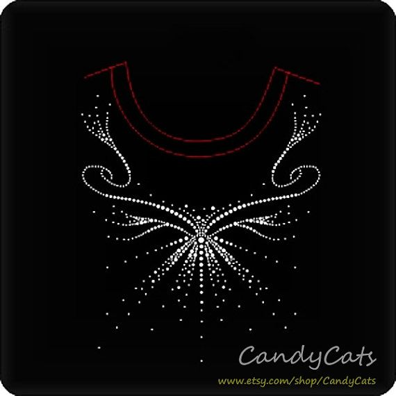 Unique Sweater Collar Iron on Rhinestone Transfer by candycats