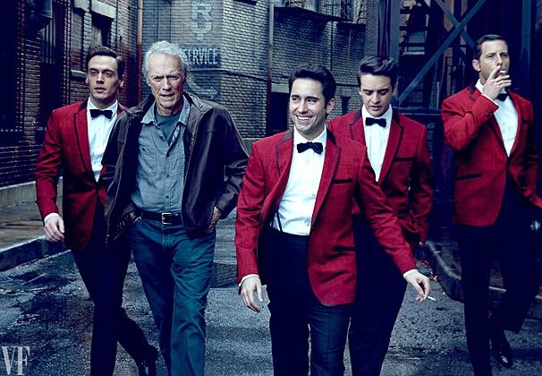Clint Eastwood, John Lloyd Young and the Jersey Boys Gents Take a Smokin' Shot For Vanity Fair