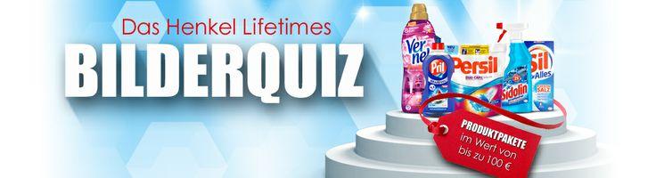 Beantworten Sie die aktuelle Quizfrage und sichern Sie sich bis zum 4.3.2014 Tag für Tag Gewinnchancen auf tolle Produktpakete von Henkel im Wert von bis zu 100 Euro.
