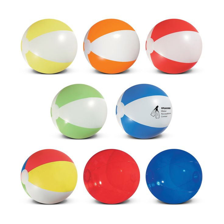 Beach balls available in the choice of 20cm or 27 cm sizes. Available in alternating colour panels, trendy transluscent colours and a multi colour ball featuring Yellow, White, Red, Green and Blue panels. A lead time of 10 - 15 working days applies to this product.