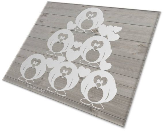 Pile Up Penguins Papercutting Template by JustAnotherTee on Etsy