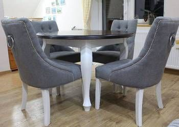 Ekskluzywne krzesło z kołatką pikowane z pinezkami producent