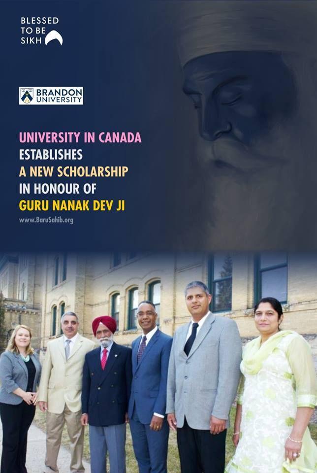 #GuruNanak  University In Canada Establishes a New scholarship in honour of Guru Nanak Dev Ji  Brandon's Sikh community has established a new scholarship at Brandon University (BU) in honour of Guru Nanak Dev Ji.  Read More https://barusahib.org/general/university-in-canada-establishes-a-new-scholarship-to-give-tribute-to-guru-nanak-guru-nanak-dev-ji-scholarship/