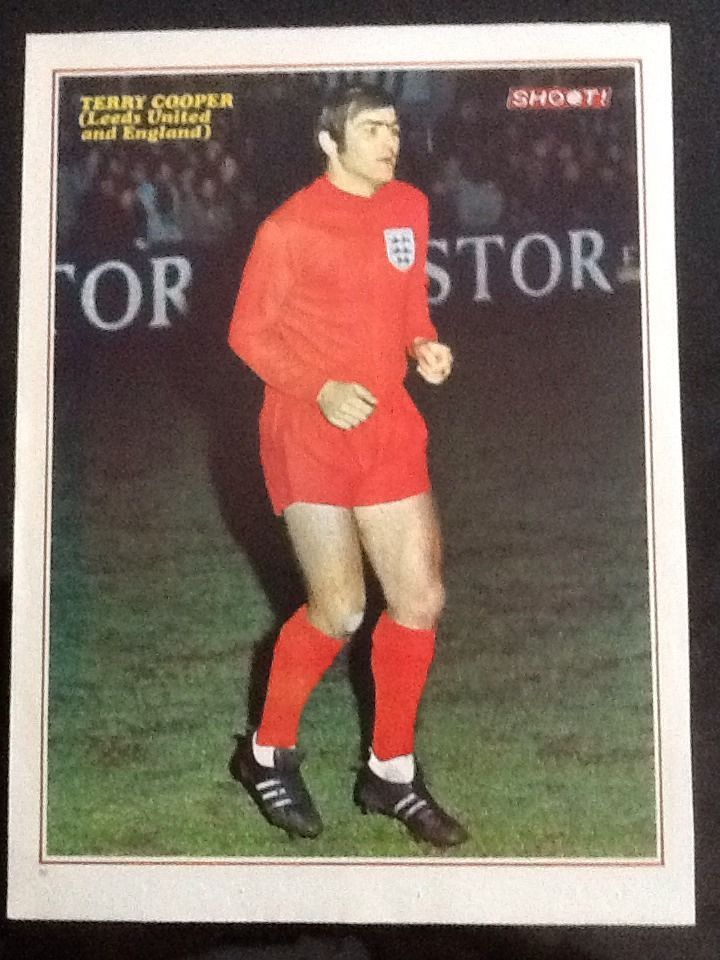 1970s A4 SHOOT Football magazine picture TERRY COOPER Leeds United + England in Sports Memorabilia, Football Memorabilia, Prints/ Pictures | eBay