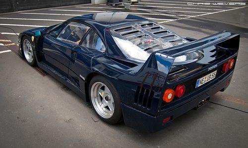 Ferrari F40 Blu Pozzi
