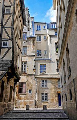 A street in Le Marais Paris