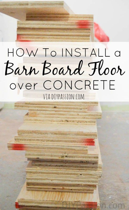 how to build a subfloor over concrete