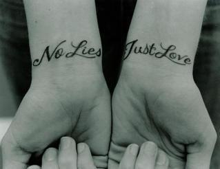 No lies. Just love