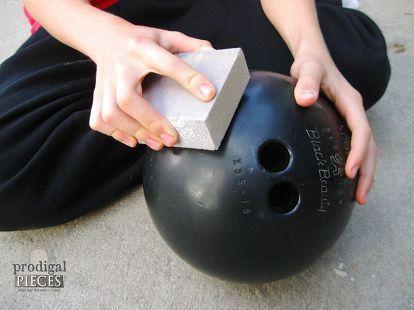 diy bowling ball pumpkin tutorial, crafts, repurposing upcycling, seasonal holiday decor