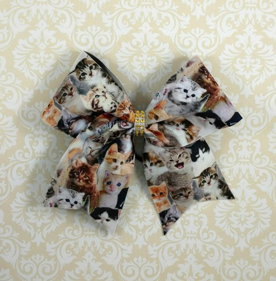 Crazy cat lady cheer bow https://www.etsy.com/listing/254330417/crazy-cat-lady-cheer-bow