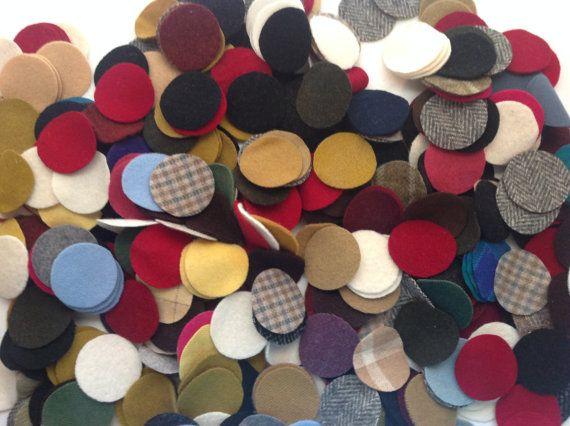"""100 1 & 1/4"""" cercles tapis de laine penny"""
