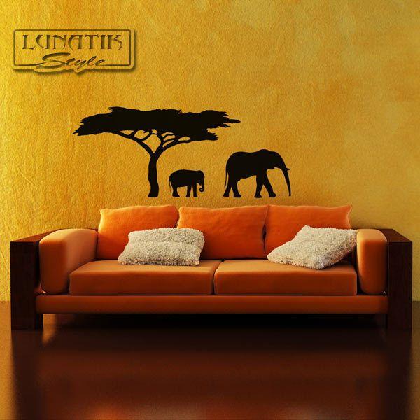 Wandtattoo Afrika Elefanten Savanne - WA13 von Lunatik-Style via dawanda.com