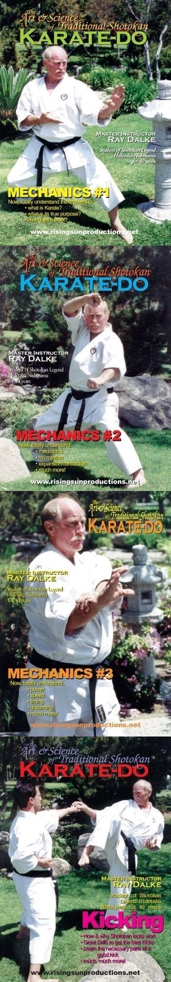 DVDs Videos and Books 73991: 8 Dvd Set Complete Art Shotokan Karate Mechanics Kicking Kata Kumite Ray Dalke -> BUY IT NOW ONLY: $149.95 on eBay!