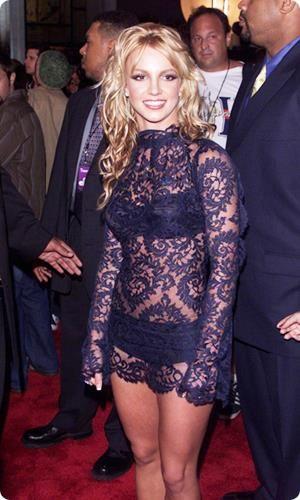 Бритни спирс в ажурном платье