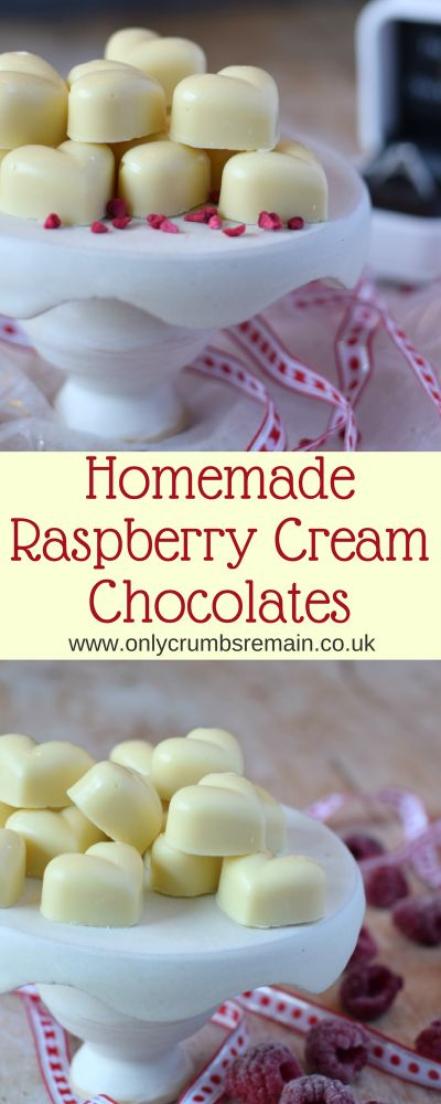 How to make raspberry cream white chocolates, with a tempered white chocolate shell and filled with a raspberry cream ganache.