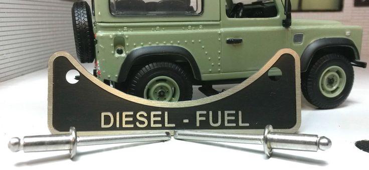 LandRover Defender TD5 TDCi TDi Diesel Fuel Filler Warning Badge Stainless Rivet…