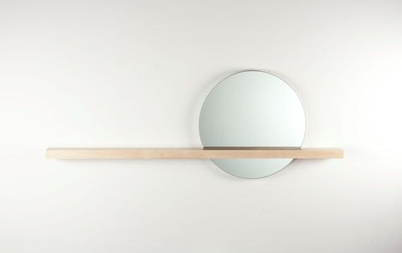 Rise/Set Mirror round mirror and solid wood. DIY project or 260$