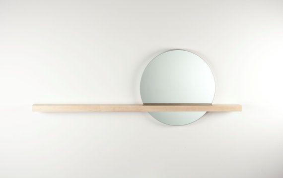 rise/set mirror + shelf.