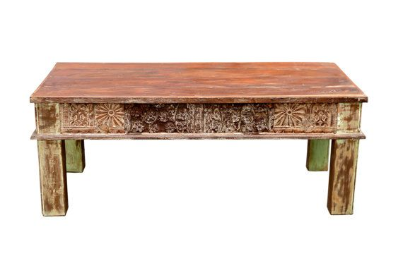Reconstructed Painted Coffee Table Architectural by DeCorPasadena