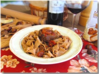 Chestnut papardelle with ragú of duck