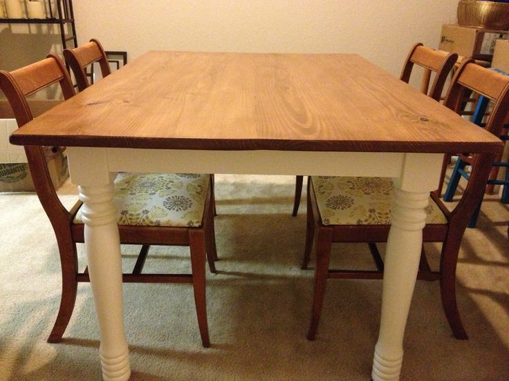 Completely finished this pine dining table i got off of for Dining room tables craigslist