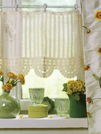 crochet curtain pic ONLY NO DIRECTIONS