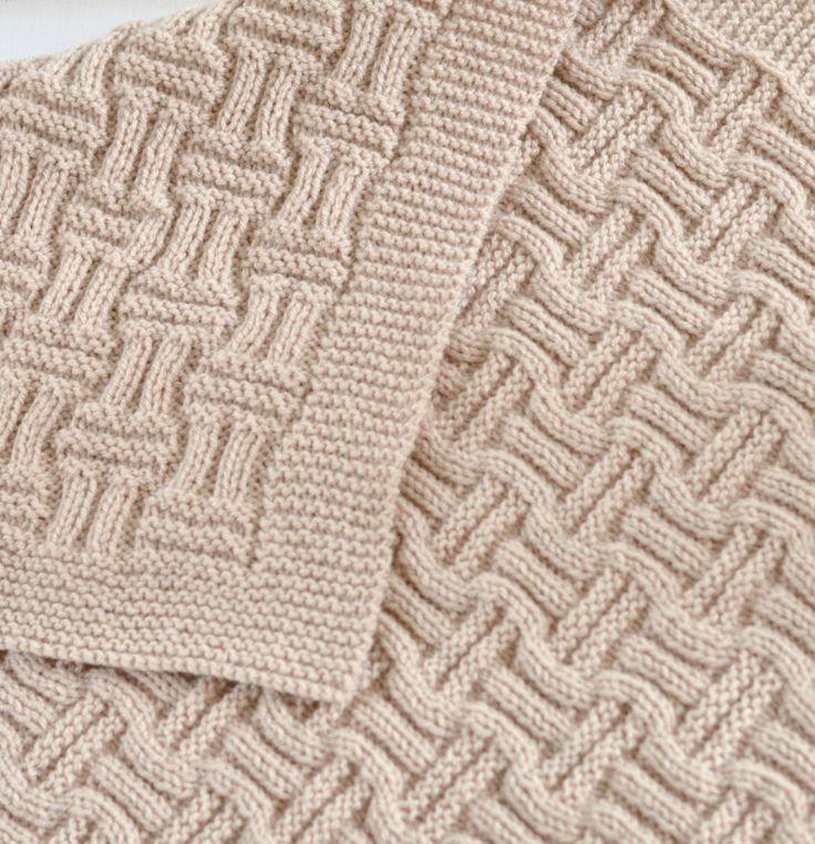 Knitting Pattern Easy Basketweave Baby Blanket