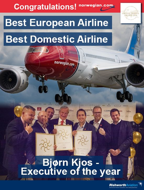 Norwegian does it again - Congratulations to our client Norwegian on winning three awards at the Grand Travel Awards in Oslo! Be part of this award winning airline http://ow.ly/Xiehe