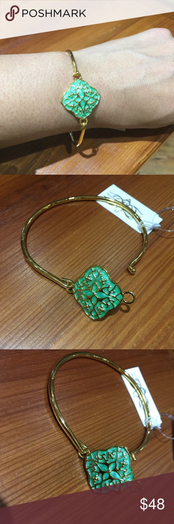 Anthony Hamilton Crawford Bracelet This amazing AHC Woodland High Wire Gold Bracelet is dainty and elegant. Features mints green and gold detail. Anthony Hamilton Crawford  Jewelry Bracelets