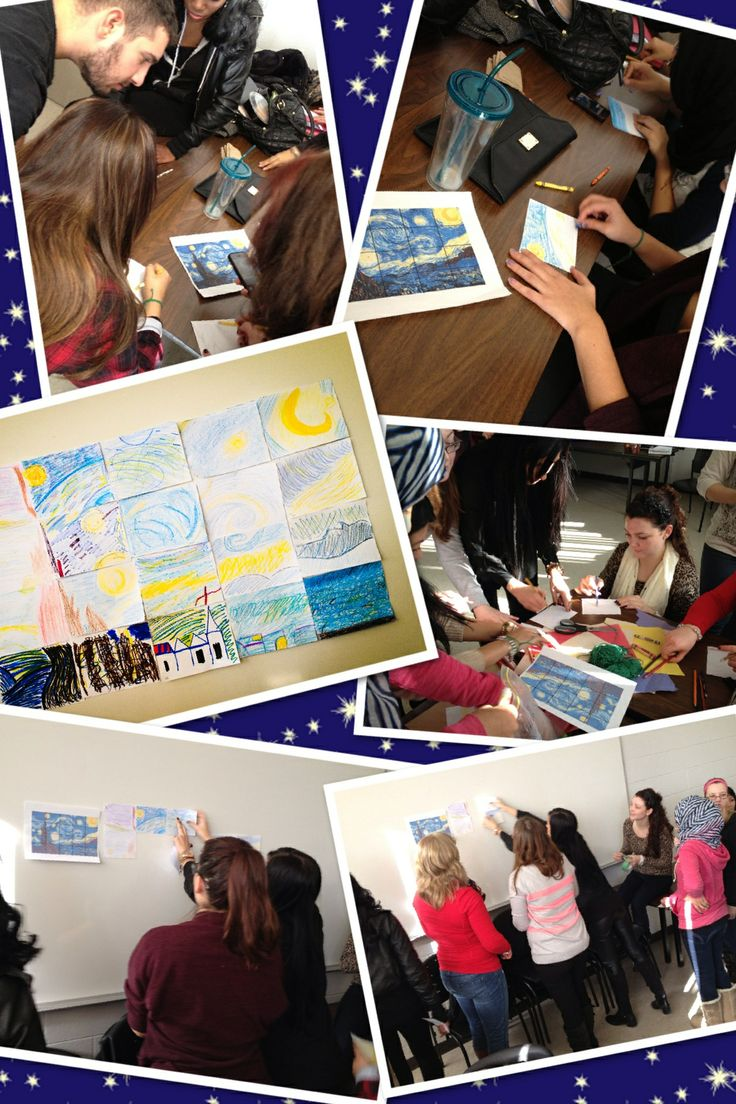 best images about teamwork for children group the process of collaborating to create our own version of starry night teamwork