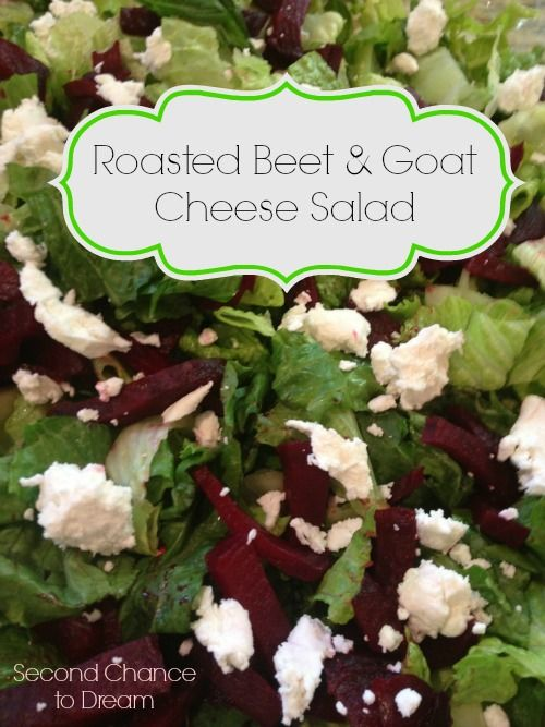 Roasted Beet & Goat Cheese Salad | Looking forward, Roasted beets and ...