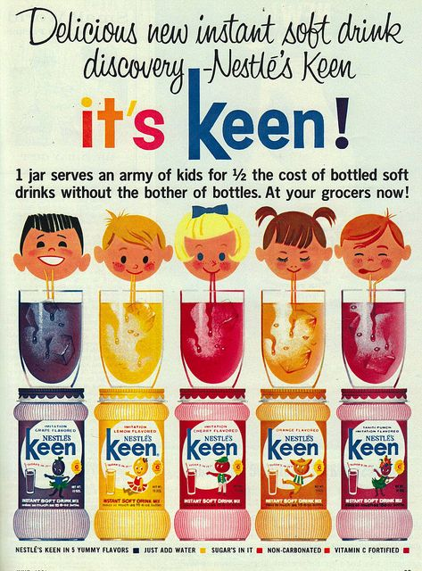 it's keen!    keen was Nestle's version of Kool-Aid. This ad is from 1964.