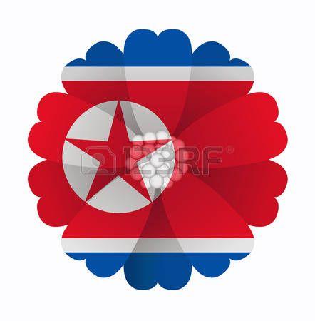 illustration of flower Flag North Korea photo