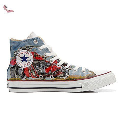 Schuhe Custom Converse All Star, personalisierte Schuhe (Handwerk Produkt  customized) Indiana Motor - size EU 36
