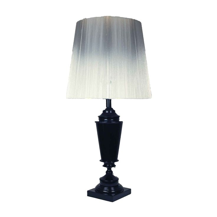 Higher Events' cordless black lamp base. Shade can be mixed and matched. Does not require power.