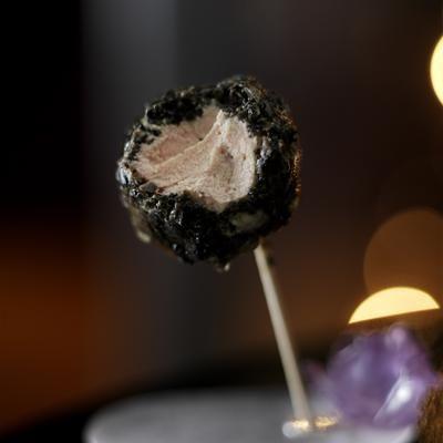 Sucette au foie gras et truffe