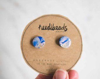 Royal Tea Marbled studs by needibeads