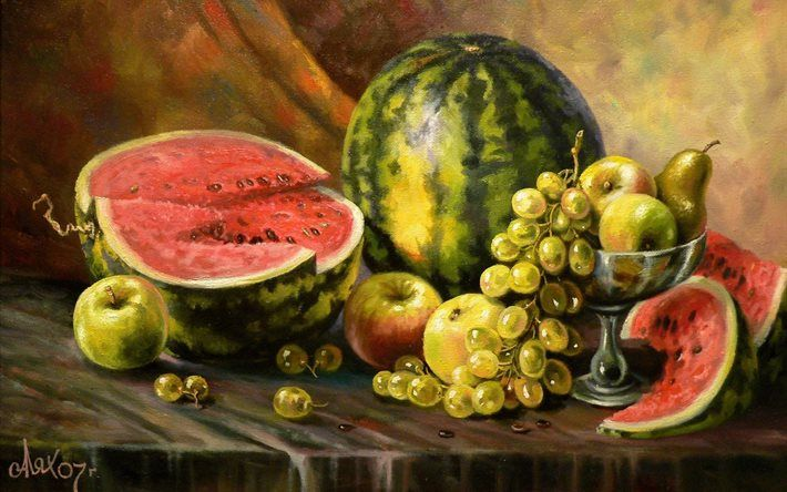 still life, fruit, picture, andrey lyakh