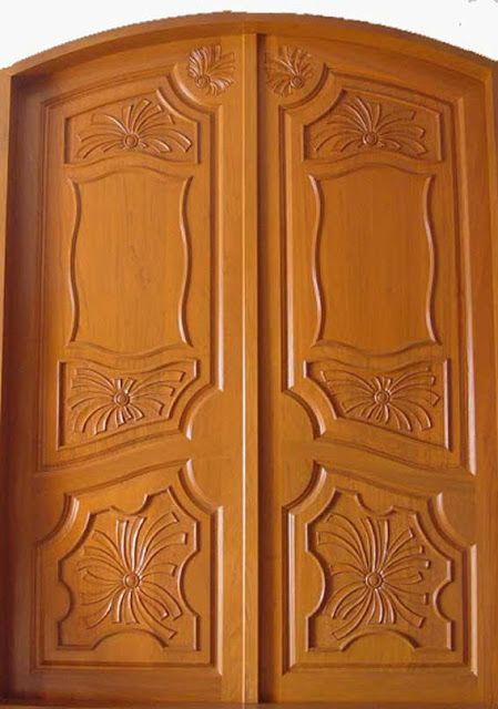 Latest kerala model wooden double doors designs gallery for Door design new model 2017