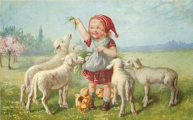 Alenquerensis: Wally Fialkowska postais de Páscoa - Wally Fialkowska Easter Postcards