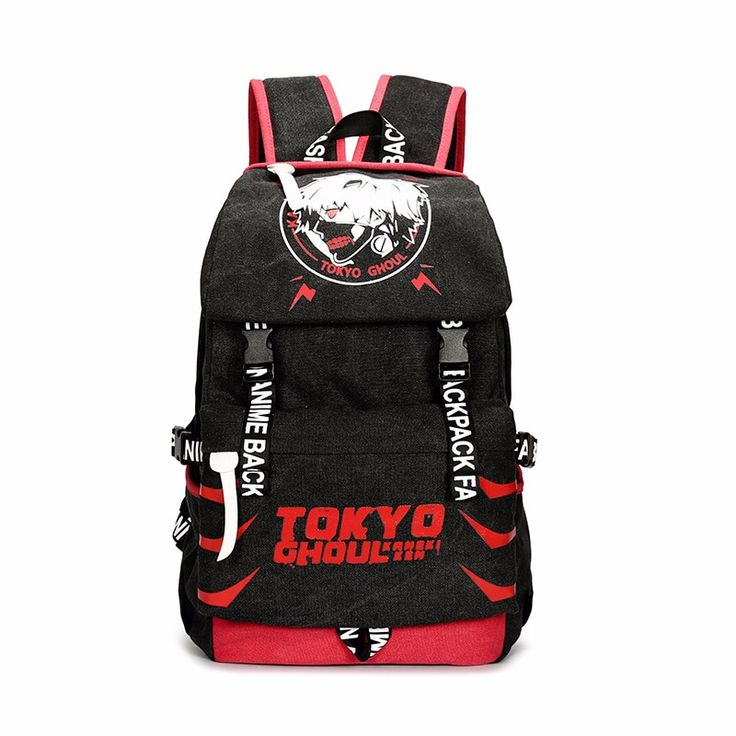 Anime tokyo ghoul backpack anime student bag red black