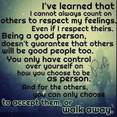 quotes about disrespect | Walking away from disrespect.