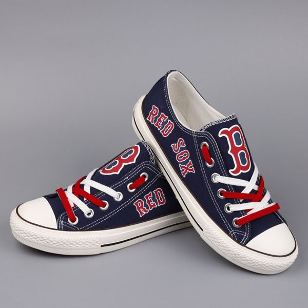 Boston Red Sox Converse Style Sneakers - http://cutesportsfan.com/boston-red-sox-designed-sneakers/
