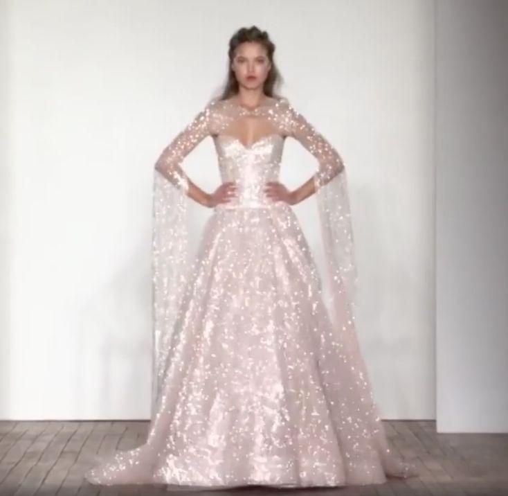 Lazaro Wedding Dresses 2015 Collection Part Ii: Wedding Dress Glitter Lazaro Spring 2018 Collection