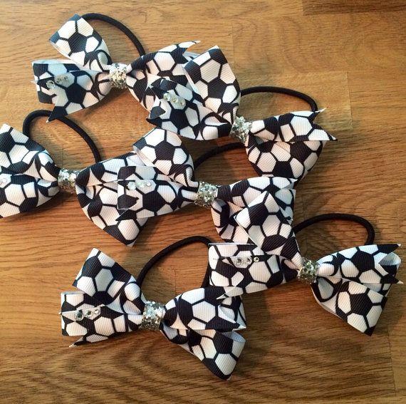 Soccer hair tie/bow!