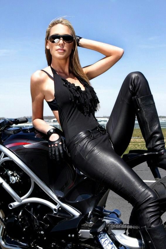 Leather Biker Babe Fetish On Web Pinterest Bikers