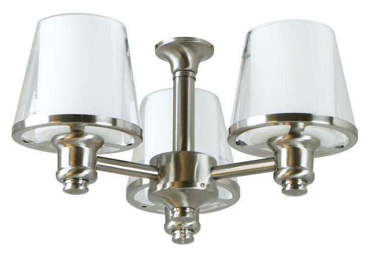 Craftmade LK300L-SS Universal Transitional Ceiling Fan Light Kit CM-LK300L-SS