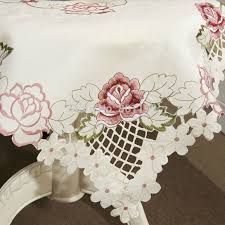 Image result for cutwork tablecloth