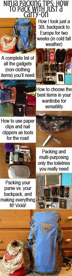 Going on a trip? Simplify your packing with these ninja packing tips!
