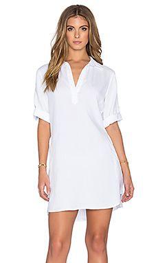 Bella Dahl A-Line Shirt Dress in White | REVOLVE